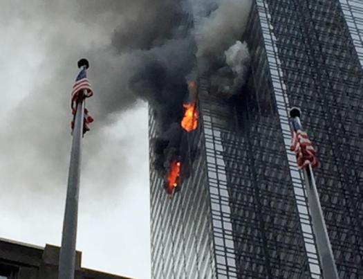 Fire in Trump Tower Daily News Photo