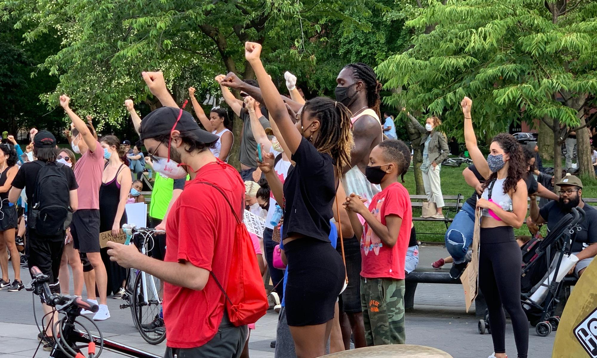 Black Lives Matter Protestors In Washington Square Park. Photo by ConsumerMojo.com