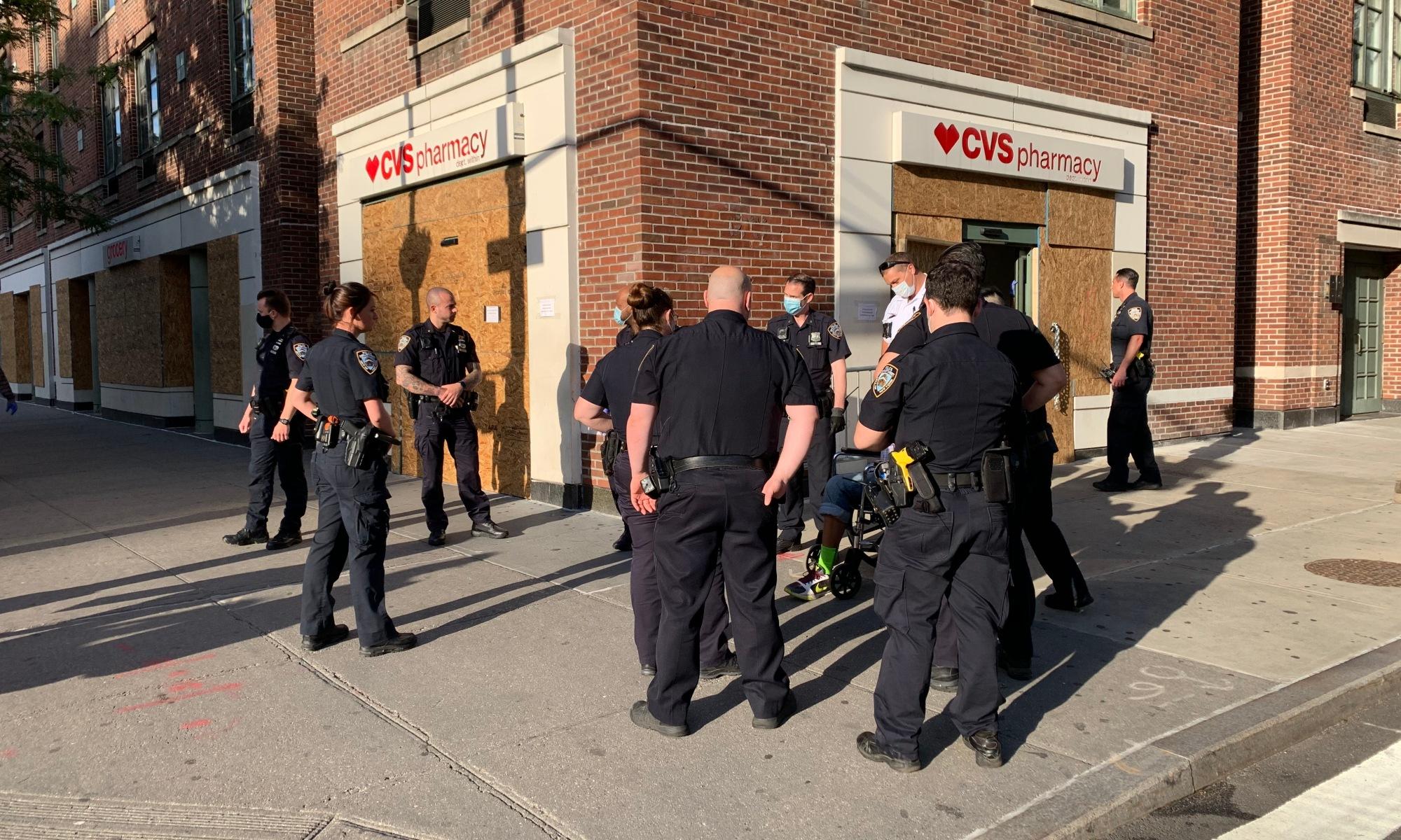 Police Making An Arrest in Greenwich Village